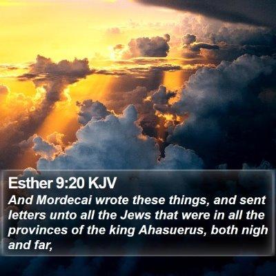 Esther 9:20 KJV Bible Verse Image