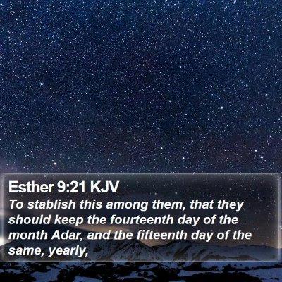 Esther 9:21 KJV Bible Verse Image