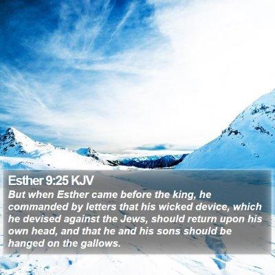 Esther 9:25 KJV Bible Verse Image