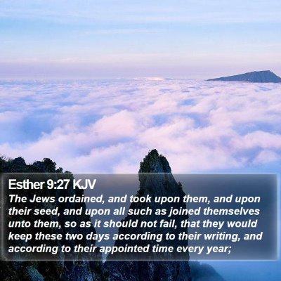 Esther 9:27 KJV Bible Verse Image