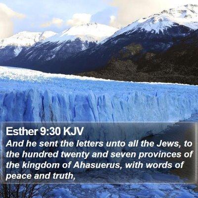 Esther 9:30 KJV Bible Verse Image