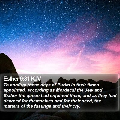 Esther 9:31 KJV Bible Verse Image