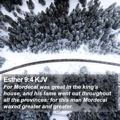 Esther 9:4 KJV Bible Verse Image
