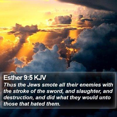 Esther 9:5 KJV Bible Verse Image
