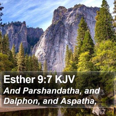 Esther 9:7 KJV Bible Verse Image