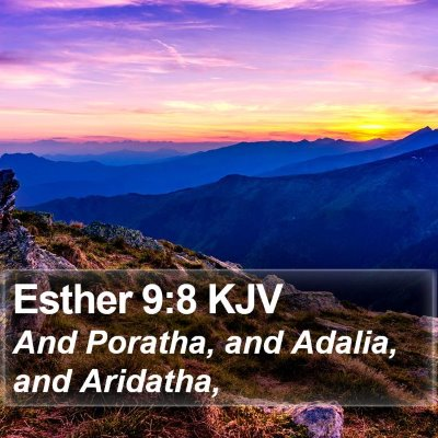 Esther 9:8 KJV Bible Verse Image