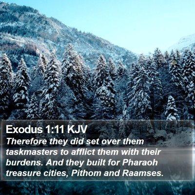 Exodus 1:11 KJV Bible Verse Image