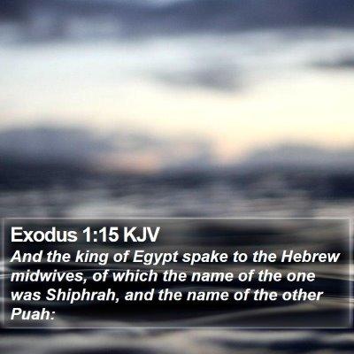 Exodus 1:15 KJV Bible Verse Image