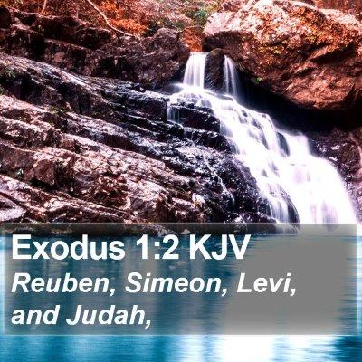 Exodus 1:2 KJV Bible Verse Image
