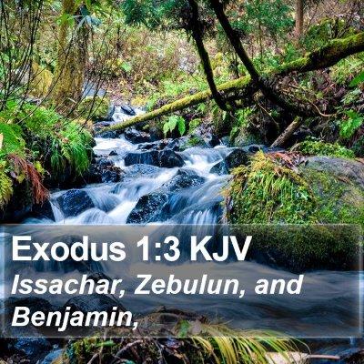 Exodus 1:3 KJV Bible Verse Image