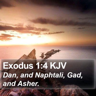 Exodus 1:4 KJV Bible Verse Image