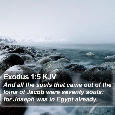 Exodus 1:5 KJV Bible Verse Image