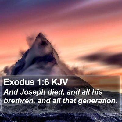 Exodus 1:6 KJV Bible Verse Image