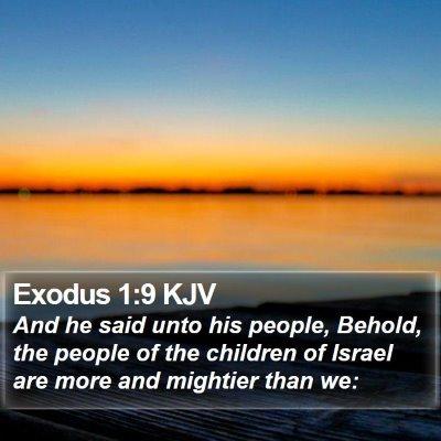 Exodus 1:9 KJV Bible Verse Image