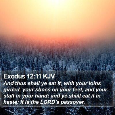Exodus 12:11 KJV Bible Verse Image