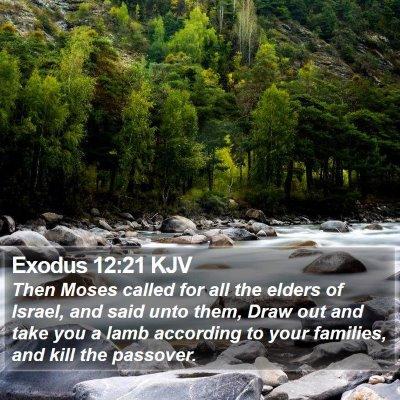 Exodus 12:21 KJV Bible Verse Image