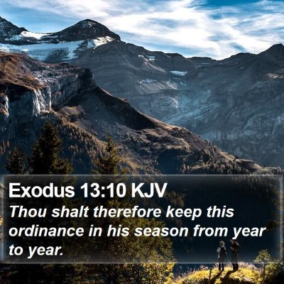 Exodus 13:10 KJV Bible Verse Image
