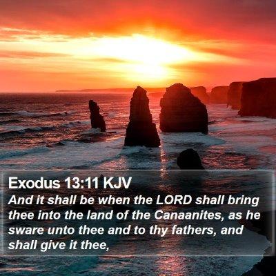 Exodus 13:11 KJV Bible Verse Image