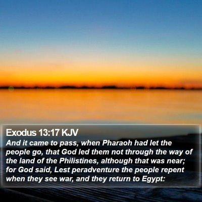Exodus 13:17 KJV Bible Verse Image