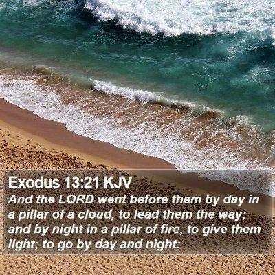 Exodus 13:21 KJV Bible Verse Image