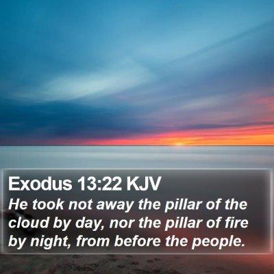 Exodus 13:22 KJV Bible Verse Image