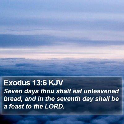 Exodus 13:6 KJV Bible Verse Image