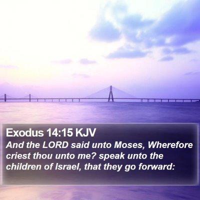 Exodus 14:15 KJV Bible Verse Image
