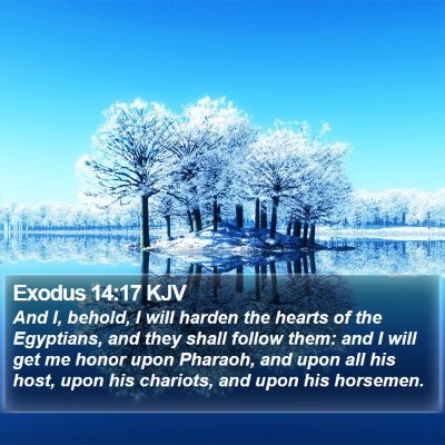 Exodus 14:17 KJV Bible Verse Image