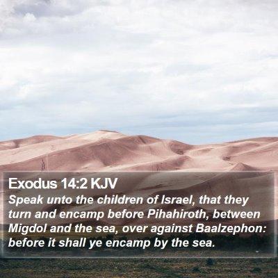 Exodus 14:2 KJV Bible Verse Image