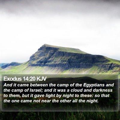 Exodus 14:20 KJV Bible Verse Image