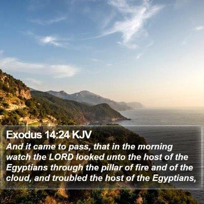 Exodus 14:24 KJV Bible Verse Image