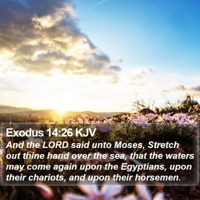 Exodus 14:26 KJV Bible Verse Image