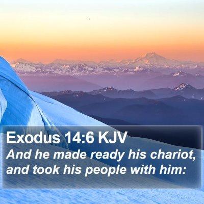 Exodus 14:6 KJV Bible Verse Image