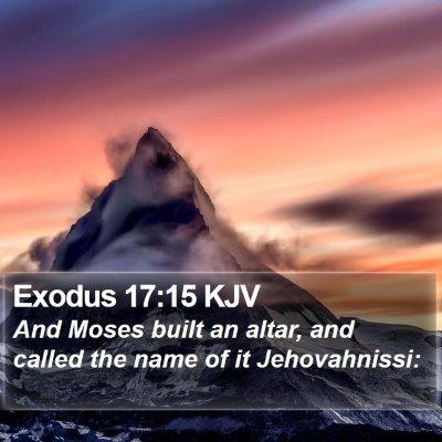 Exodus 17:15 KJV Bible Verse Image