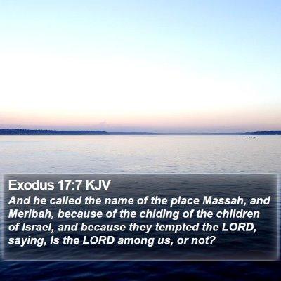 Exodus 17:7 KJV Bible Verse Image