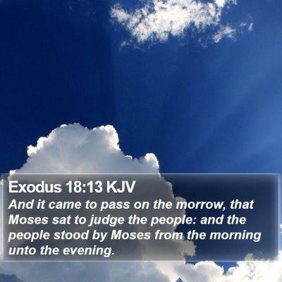Exodus 18:13 KJV Bible Verse Image