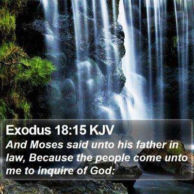 Exodus 18:15 KJV Bible Verse Image
