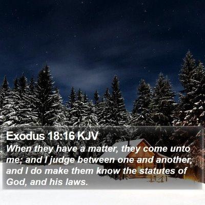 Exodus 18:16 KJV Bible Verse Image