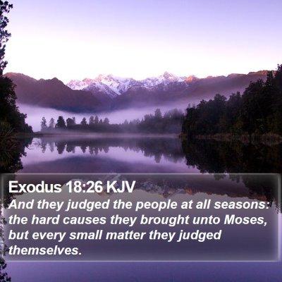 Exodus 18:26 KJV Bible Verse Image