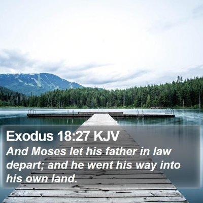 Exodus 18:27 KJV Bible Verse Image
