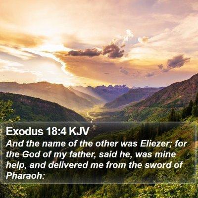 Exodus 18:4 KJV Bible Verse Image