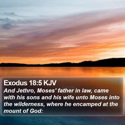 Exodus 18:5 KJV Bible Verse Image