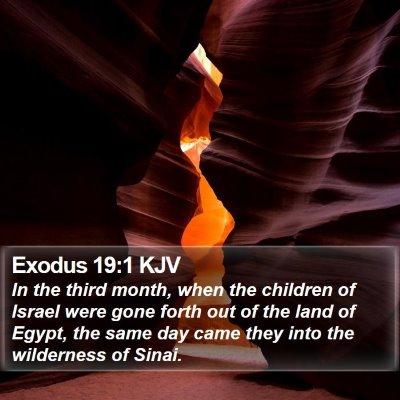 Exodus 19:1 KJV Bible Verse Image