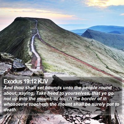 Exodus 19:12 KJV Bible Verse Image