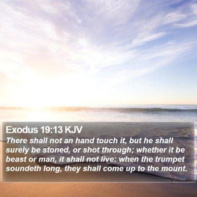 Exodus 19:13 KJV Bible Verse Image