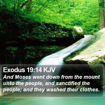 Exodus 19:14 KJV Bible Verse Image