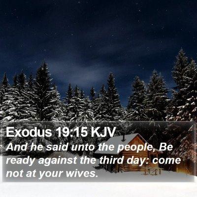 Exodus 19:15 KJV Bible Verse Image