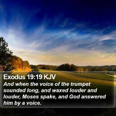 Exodus 19:19 KJV Bible Verse Image