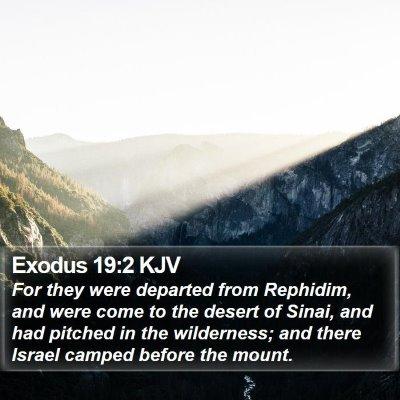 Exodus 19:2 KJV Bible Verse Image