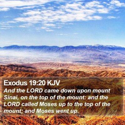 Exodus 19:20 KJV Bible Verse Image